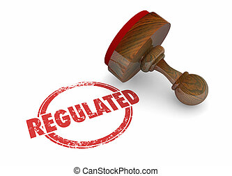 Regulated Stamp Rules Laws Regulations 3d Illustration
