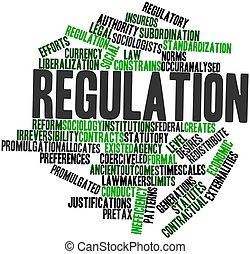 Regulation - Abstract word cloud for Regulation with related...