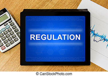 Regulation word on digital tablet