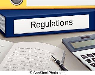 regulations binders