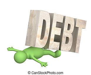 rehén, deuda