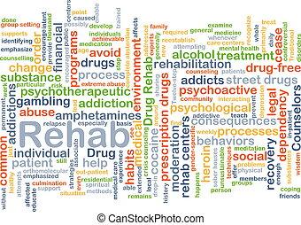 rehab, achtergrond, concept