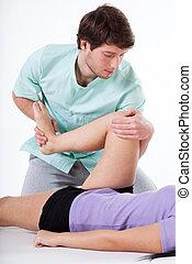 rehabilitacja, ruch, noga