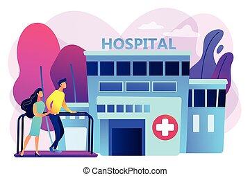 Rehabilitation center concept vector illustration. -...