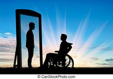 Rehabilitation disabled man