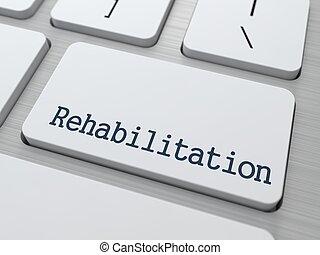 rehabilitation., medisch, concept.