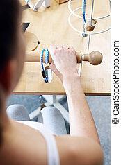 Rehabilitation, rehabilitation room exercises