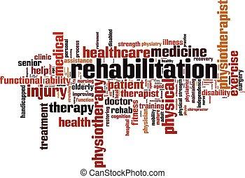 Rehabilitation.eps - Rehabilitation word cloud concept....