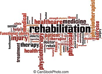 Rehabilitation.eps - Rehabilitation word cloud concept....