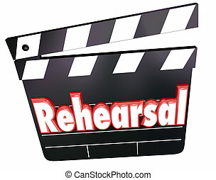 Rehearsal Movie Film Clapper Board Acting Practice - ...
