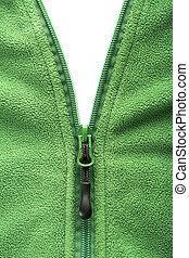 reißverschluss, öffnung, fleece jacke