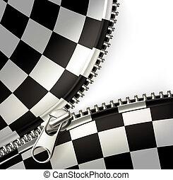 reißverschluss, checkered