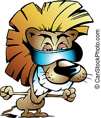 rei, leão, fresco