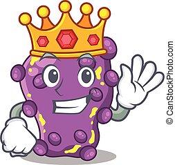 rei, mascote, estilo, sábio, shigella, desenho