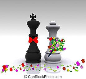 rei, rainha, -, casório