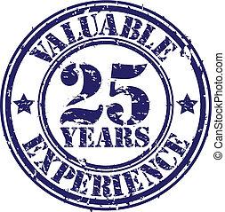 reiben, wertvoll, jahre, erfahrung, 25
