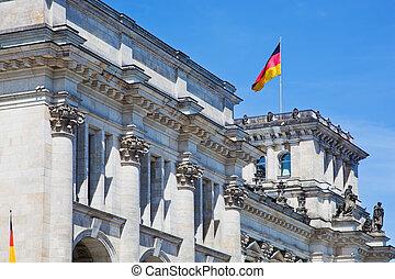 reichstag, 建物。, ドイツ, ベルリン