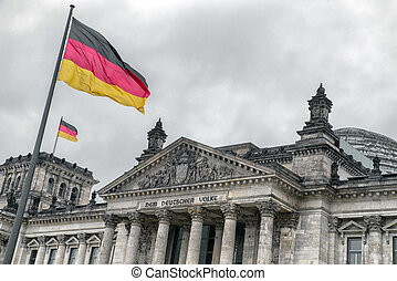 Reichstag building in Berlin, Germany - BERLIN, GERMANY -...
