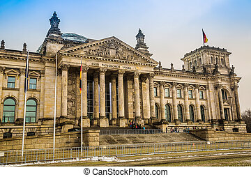 Reichstag building in Berlin