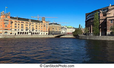 Reichstag building in Stockholm. Sweden.