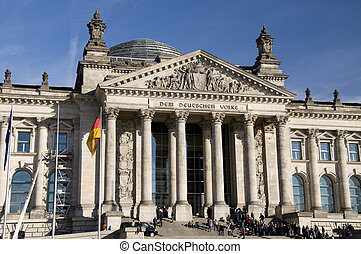 reichstag, do, berlín, říjen, 2010