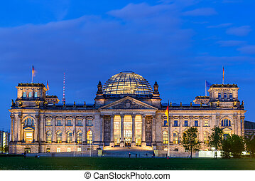 Reichstag in Berlin - reichstag or bundestag building in...