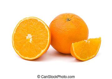reif, orange, früchte