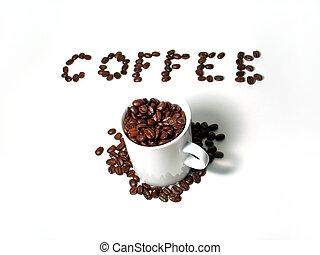 reihe, bohnenkaffee, 4