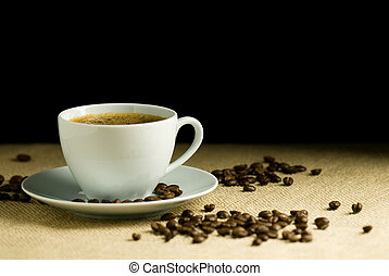 reihe, bohnenkaffee