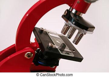 reihe, mikroskop, 3