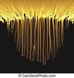 reihe, mit, dynamisch, ausgestrahlt, particles.a, glühen,...