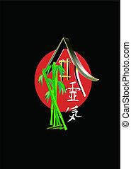 reiki symbols on black illustration