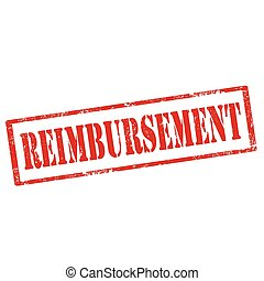 Reimbursement-red stamp - Grunge rubber stamp with text...