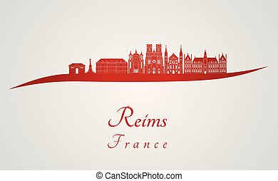 reims, skyline, rotes