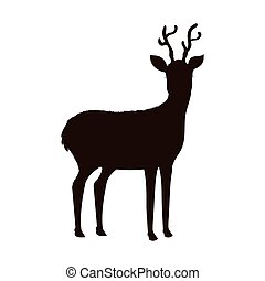 reindeer animal isolated icon