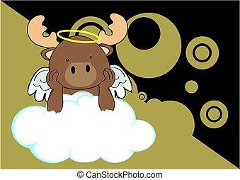 reindeer baby cute angel cartoon