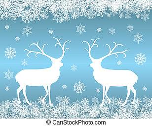 Reindeer background vector illustration eps 10