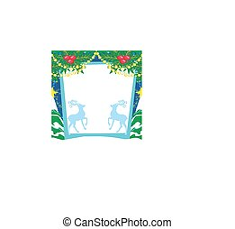 Reindeer blue frame