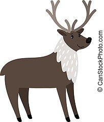 Reindeer cartoon animal icon