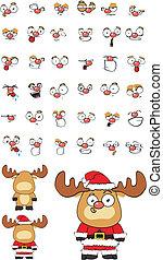 reindeer cartoon set 5