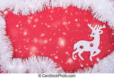 Reindeer decoration in christmas holiday