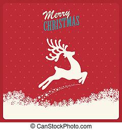 reindeer fly merry christmas