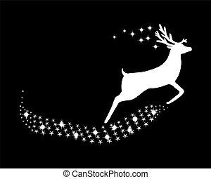 reindeer, glitre, stjerner