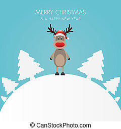 reindeer hat christmas tree white background world