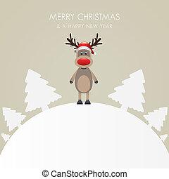 reindeer hat tree white background world