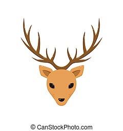 Reindeer Head with Antlers