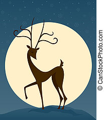 Reindeer in the Night