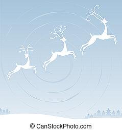 Reindeer in the Sky