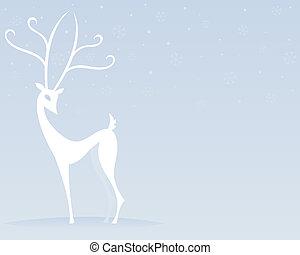Reindeer in White