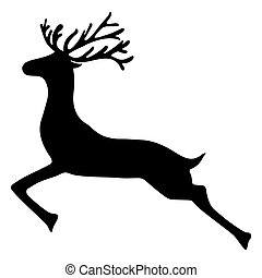 Reindeer isolated on white background  vector illustration